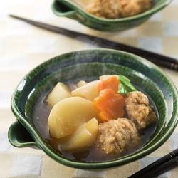 かぶと鶏つくねの煮物