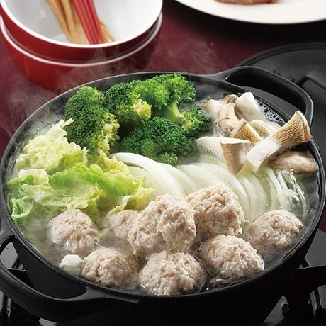 鶏ひき肉鍋