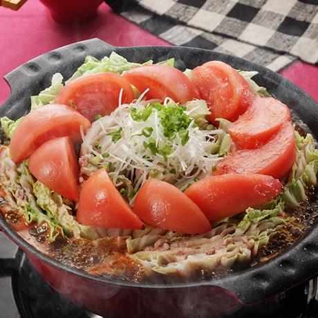 白菜と豚バラ肉のトマト鍋