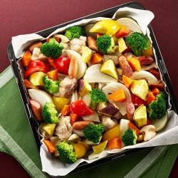 根菜でぎゅうぎゅう焼き
