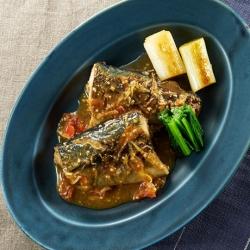 トマト味噌の鯖味噌煮