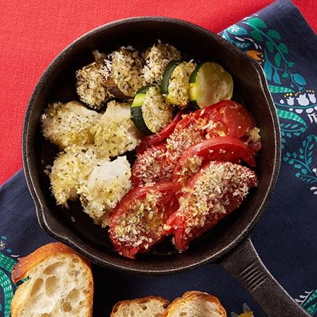 たらとトマトのオーブン焼き