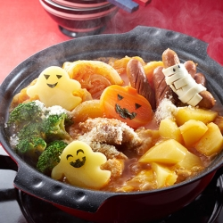 ハロウィンのトマト鍋