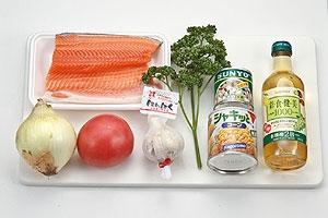 銀鮭のボンゴレソース