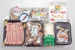 きのこと豚肉の煮物