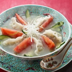 丸鶏スープ餃子・初夏風