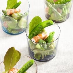 えびとグリーンサラダ