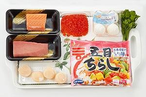 花束のカップちらし寿司
