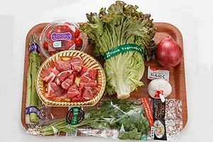 ラム肉のスパイシーサラダ