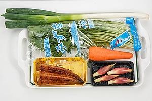 うなぎと水菜の和風サラダ