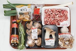 きのこと豚ひき肉の炒め物