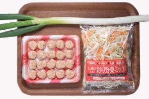 野菜と肉団子の食べるスープ