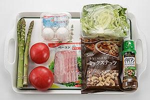 トマトとアスパラの前菜サラダ