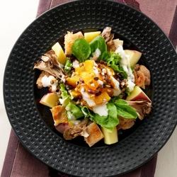 いもジェンヌとグリルチキンとオレンジのechigo salad