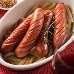 ソーセージとポテトのローズマリー焼き