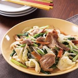 豚肉と彩り野菜の生姜炒め