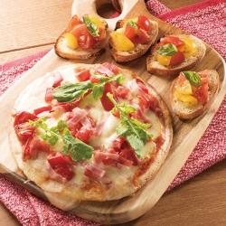 トマトのブルスケッタとトマトピザ