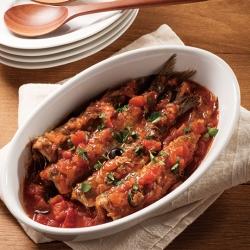 シチリア風いわしのトマト煮
