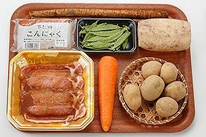 フライパンで根菜煮物