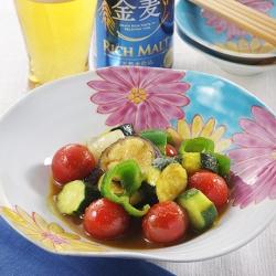 夏野菜のカレー風味マリネ