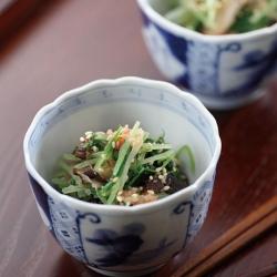 水菜と焼き椎茸の和え物