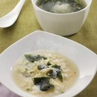 しょうが入りわかめスープ&しょうが入りわかめスープ雑炊