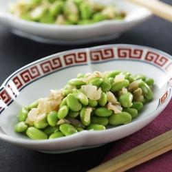 枝豆とザーサイの和え物