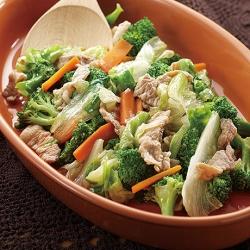 レタスと豚肉の炒め物
