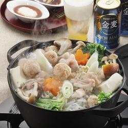 豚バラと鶏だんご鍋の「食べぽん」