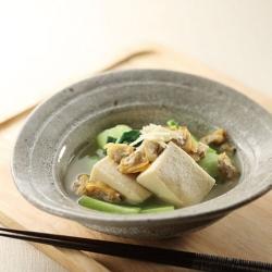 凍り豆腐とアサリの煮物