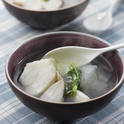 鱈とねぎのスープ