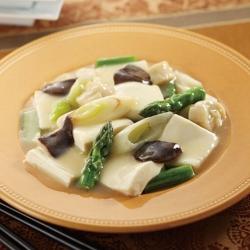 アスパラと豆腐の五目煮
