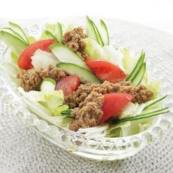 ひき肉のサラダ