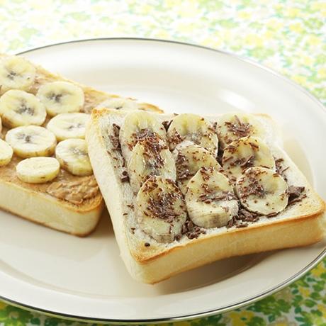 バナナトースト2種