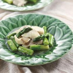 白身魚とアスパラの炒め煮
