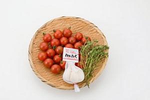 プチトマトのガーリック炒め