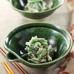小松菜とクリームチーズの和えもの