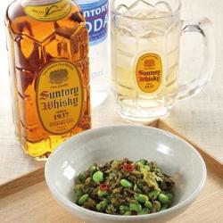 枝豆と高菜漬の炒め物