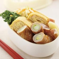 ねぎの豚肉巻き弁当