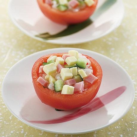 トマトのサラダずし
