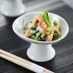 小松菜と鮭のおろし和え