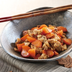 鶏肉と人参の甘辛煮