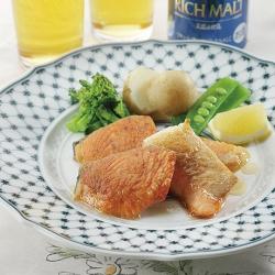 銀鮭のソテー・春野菜添え
