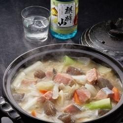 塩鮭と酒かすの鍋