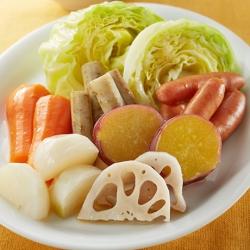 温野菜のしょうがドレッシング