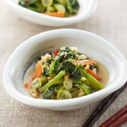 小松菜と打ち豆の煮浸し