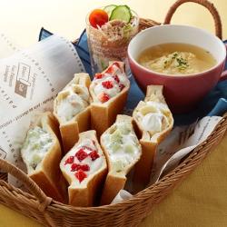 ギリシャヨーグルトのポケットサンド朝食