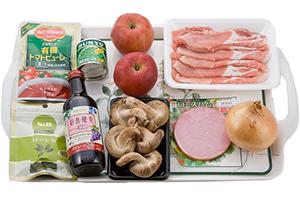 豚肉とリンゴの煮物