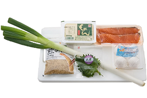 鮭と豆腐のつくね焼き