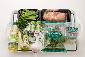 蒸し鶏と夏野菜サラダ